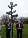 Twinning signpost in Cheltenham