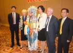 Andrew North and Barbara Driver with Weihai officials - April 2012