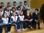 Mayor with Weihai children - April 2012